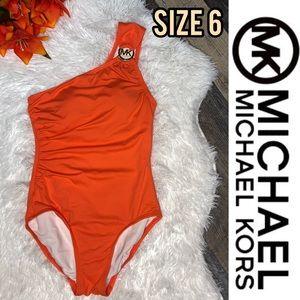Michael Kids peach orange one piece bikini